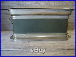 Medical Sterilizing Tray With Lid Vintage Field Hospital Use Possibly WWII