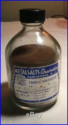 Mercury MetalSalts Corporation Triple Distilled Vintage 4.5lbs