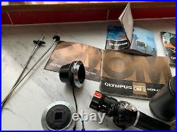 Old Olympus pen f & pen-ft cameras equipment vintage was used for medical