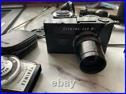 Old Olympus pen f & pen-ft cameras with lenses and equipment vintage medical
