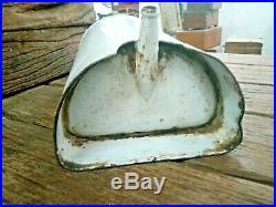 Old Vintage Blue & White Porcelain Enamel Medical/hospital Equipment