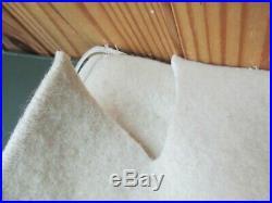 Old Vintage U. S. Navy USN White Medical Blanket or Equipment Cover White Wool