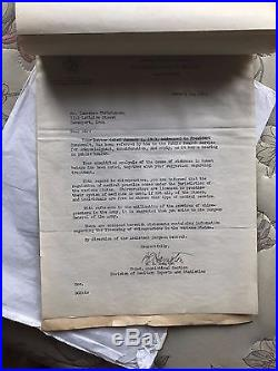 Original WWII US Correspondence The Christensen Letter to Franklin Roosevelt