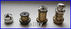 RARE Vintage brass kit 8 objective eyepiece for microscope ERNST LEITZ WETZLAR