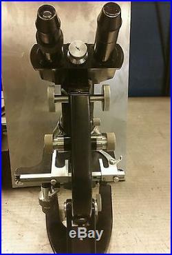 Rare Vintage Model B German Ernst Leitz WETZLAR Stereo Microscope 4 lenses