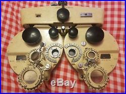 Rare vintage ELLIS OPTICAL Co. REFRACTOR HEAD EYE TESTING INSTRUMENT OPTICIANS