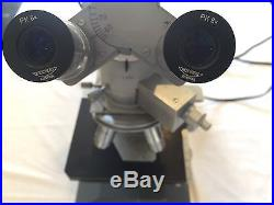 Reichert Metavar IK Trinocular Microscope System with Illuminator VINTAGE RARE