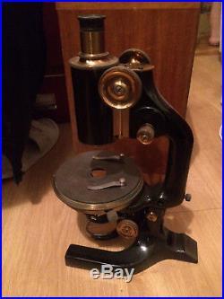 Reichert Wien Vintage Brass Microscope 1924 year Apochromat Optics