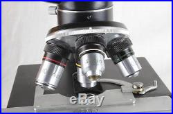 SUPER NICE Vintage 1965 STEINDORFF Berlin Binocular Lab Microscope withCase+Extras