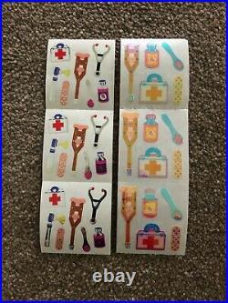 Sandylion vintage 80s very rare shiny and Mylar medical equipment sticker strips