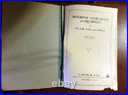 Surgeons' Instruments & Equipment Eye, Ear, Nose 1929 Vintage Medical Catalogue