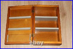 USSR Vintage 70s Wooden Medicine Box Medical Soviet Military First Aid Wall Kit