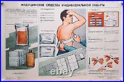 Ussr Medical Equipment For Personal Protection Soviet Vintage Medicine Poster