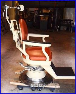 VERY RARE VINTAGE 1920s HYDRAULIC MECHANICAL RITTER DENTAL TATTOO BARBER CHAIR