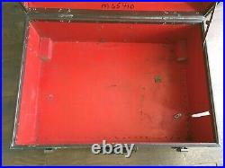 VINTAGE Medical Equipment Trunk. Red. MSA Chemox. Oxygen Breathing Apparatus