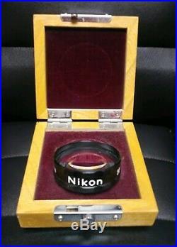 VINTAGE NIKON 20 DPTR DIOPTER 20D LENS WITH CASE No. 9872 Opthalmology Optical