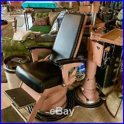 VINTAGE PINK hydraulic Adjustable DENTAL CHAIR BAUSCH & Lomb Tattoo, Collectors