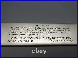 VTG Medical Metabolic Calculator Slide Rule Jones Metabolism Equipment Co. RARE
