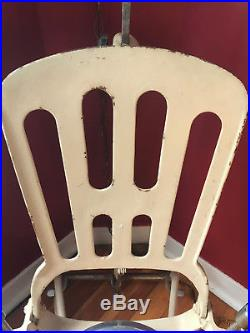 Vintage 1920s A. S. Aloe Metal Dental Chair With Drip Pan/Accessories Chicago