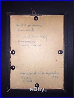 Vintage 1940's Rare Palmer School of Chiropractic copper embossment
