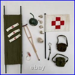 Vintage 1960s Action Man Doll Figure Uniform Army Medic Equipment Set
