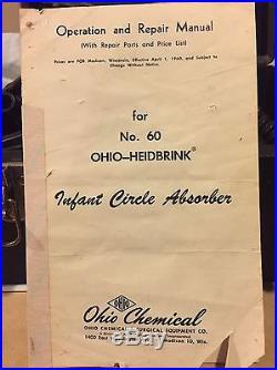 Vintage 1961 Ohio-heidbrink Infant Circle Absorber