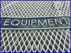 Vintage 28 EQUIPMENT STORAGE 2 Hospital Medical Plaque Embossed Stamped SIGN