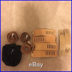 Vintage 2 Sets Authentic Leather Medical Restraint Play Bondage Cuffs