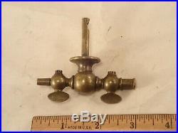 Vintage 2-Way Brass Valve for Medical Surgical Equipment, Aspiration, Embalming