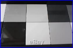 Vintage 60s Gardner Labs Spectrophotometer 12 Calibration Tiles Gray Black White