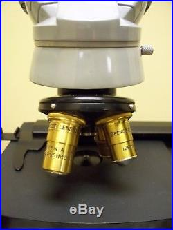 Vintage AO American Optical/Spencer Lens Microscope, 4 Objectives, Power Supply