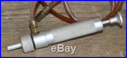 Vintage Aluminum Pyrex Test Tube Holder / Carrier and Oil Pump