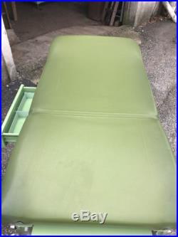 Vintage Art Deco Coronet Gynecology Medical Examination Table Green Chrome