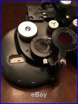 Vintage B&l Bausch & Lomb Optical Optician Refractor Phoropter Eye Exam Tool