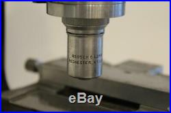 Vintage Bausch & Lomb Optical Monocular Polarizing Microscope with Circular Stage