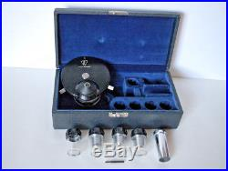 Vintage Bausch & Lomb Phase Contrast Kit with Case, 3 Objectives, Cntr Telescope