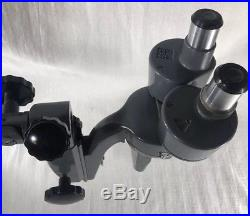 Vintage Bausch and Lomb 3 Objective Stereo Microscope Steam Punk
