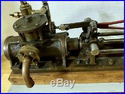 Vintage Beautiful Stuart Type Horizontal Steam Engine Live Model Working Engine