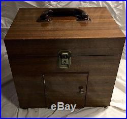 Vintage Beckman Glass Electrode pH Meter Model GS in Wooden case antique