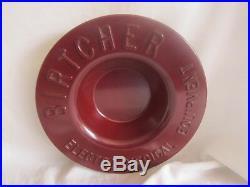 Vintage Birtcher Electro Medical Equipment Red Bakelite Bowl 9-1/2 diameter BH