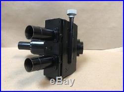 Vintage Black Leitz FSA Trinocular Microscope Head With Photo Adapter Ortholux