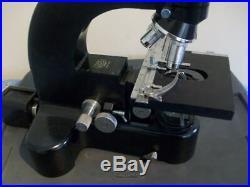 Vintage Black Leitz Wetzlar Ortholux Trino Microscope
