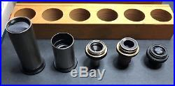 Vintage Brass Microscope Carl Jena Zeiss Nr. 175145 withCase Lenses Slides A BEAUTY