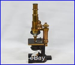 Vintage Carl Zeiss Jena Brass Microscope