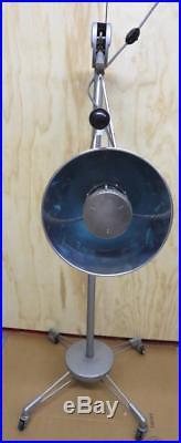Vintage Castle Medical Dental Industrial Lamp Light Rolling Floor, Syphon Type 8