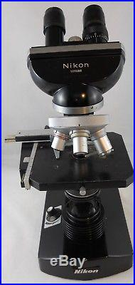 Vintage Classic Nikon SKT Binocular 4 Objectives Microscope Made in Japan
