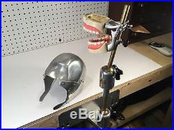 Vintage Columbia Dentoform Aluminum Dental Manikin with Brass Articulating Stand