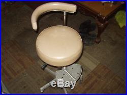 Vintage Den-Tal-Ez Tall Dental Rolling Comfort Chair 39 -Sliding Foot Rest #6Ms