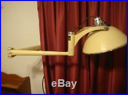 Vintage Doctor Dentist Exam Light with Wall Mount Wilmot Castle Brass Lamp NICE