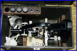 Vintage ERNST LEITZ WETZLAR Laboratory Microscope Germany withCase Plus LOOK